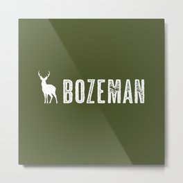 Deer: Bozeman, Montana Metal Print