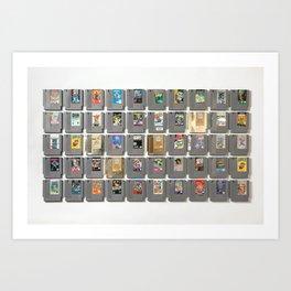 50 Nintendo Games Art Print