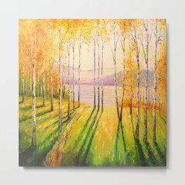 Birch grove Metal Print