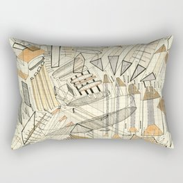 City Neutral: abstract geometric drawing Rectangular Pillow