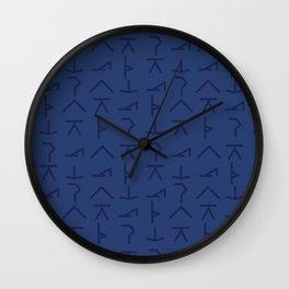 Modern Yoga Symbols Wall Clock