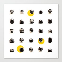 stoneheads 002 Canvas Print
