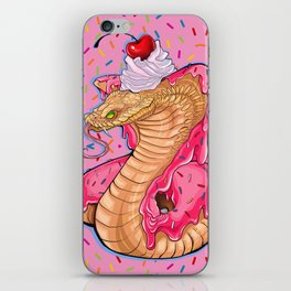 candy cobra with a side of sprinkles iPhone Skin