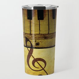 PIANO KEYS Pop Art Travel Mug