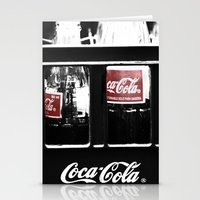 coca cola Stationery Cards featuring coca cola by Crimson Crazed
