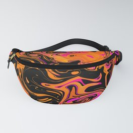 Psychedelic Fluid Spill Fanny Pack