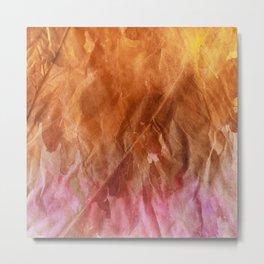 Crumpled Paper Textures Colorful P 282 Metal Print