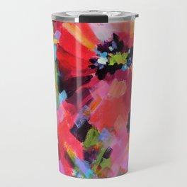 Wildflowers and Poppies Travel Mug