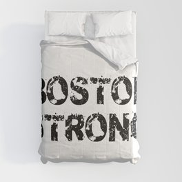 Support BOSTON STRONG Black Grunge Comforters