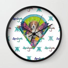 Dog&Butterfly Wall Clock
