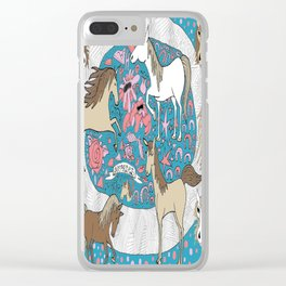 All the Pretty Horses Clear iPhone Case