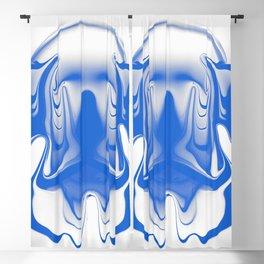 mask1 blue Blackout Curtain