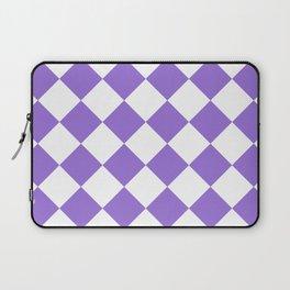 Large Diamonds - White and Dark Pastel Purple Laptop Sleeve