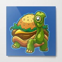 Turtle Burger Metal Print