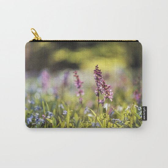 Spring flower meadow I - Beautiful flowers on #Society6 Carry-All Pouch