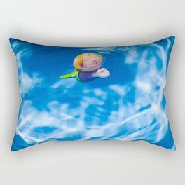 Mermaid in the pool Rectangular Pillow