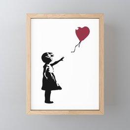 Girl With Red Balloon, Banksy, Streetart Street Art, Grafitti, Artwork, Design For Men, Women, Kids Framed Mini Art Print