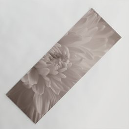 Monochrome chrysanthemum close-up Yoga Mat