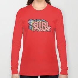 Girl Power grl pwr Retro Long Sleeve T-shirt