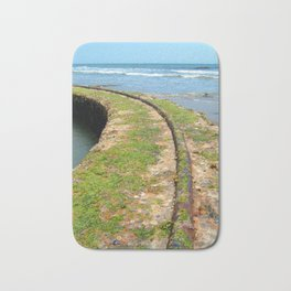 Old Tracks By The Ocean Bath Mat