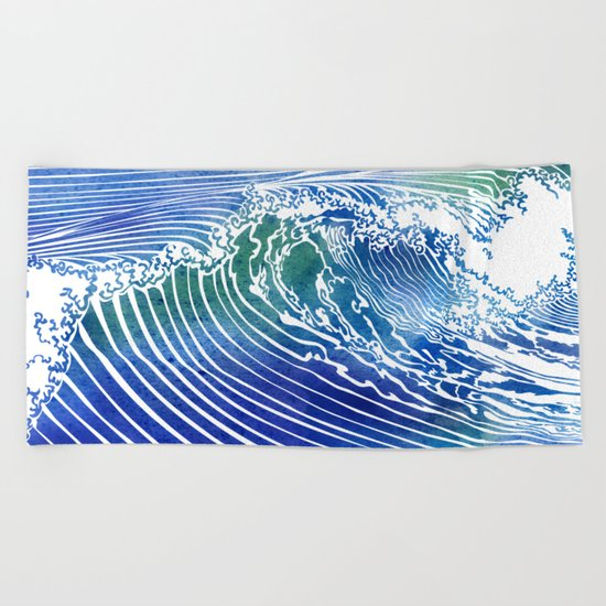 Atlantic Waves Beach Towel