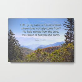 My help comes from the Lord Metal Print