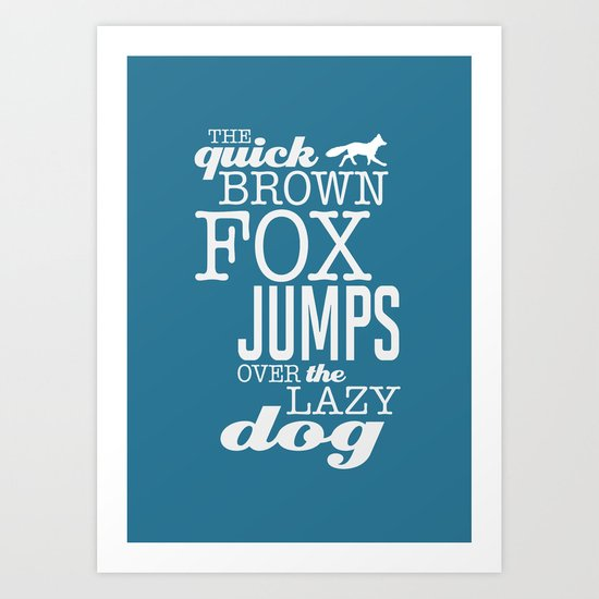 The quick brown fox Art Print