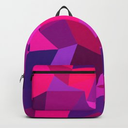 Geometric shapes,plane,triangles,polygons,hexagons,abstract,pink Backpack