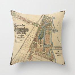 Chicago World Exposition 1893 Throw Pillow