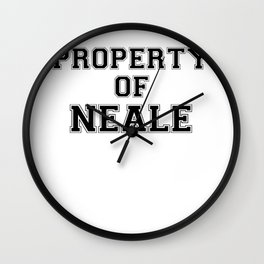 Property of NEALE Wall Clock