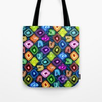 geode Tote Bags featuring Geode Delight! by Sylvie Heasman