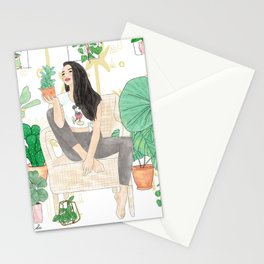 Plants are friends Stationery Cards