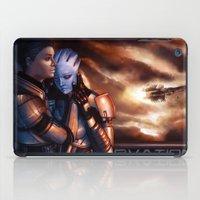 mass effect iPad Cases featuring Mass Effect - Memories by Amber Hague