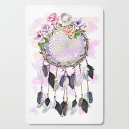 Dream Catcher, Catching Dreams, To Catch A Dream, Feathers and Flowers Dream Catcher Cutting Board