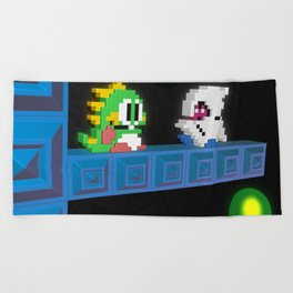 Inside Bubble Bobble Beach Towel