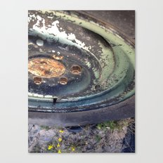 Forgotten Wheel Canvas Print