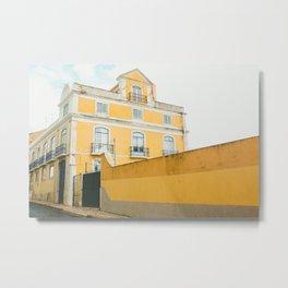 Lisboa in yellow Metal Print
