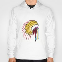 headdress Hoodies featuring Headdress by Relic X