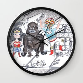 Candy Bandits Wall Clock