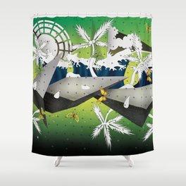 Butterfly Islands Shower Curtain
