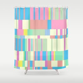 Chopin Prelude (Miami Beach Colours) Shower Curtain
