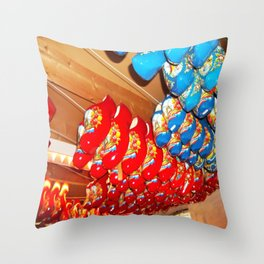 Danish Clogs Throw Pillow