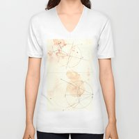 math V-neck T-shirts featuring math by theoreticalsociety6