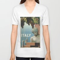 italy V-neck T-shirts featuring ITALY by Kathead Tarot/David Rivera