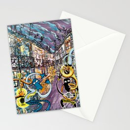 French Quarter Street Musicians Stationery Cards