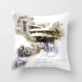 Falingwater Watercolor Throw Pillow