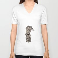 pen V-neck T-shirts featuring - old pen for souvenirs - by Magdalla Del Fresto
