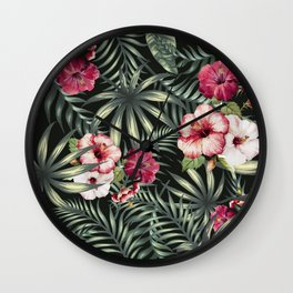 Tropical leave pattern 11.1 Wall Clock
