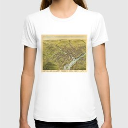 Bird's eye view of the City of Bangor, Penobscot County, Maine (1875) T-shirt