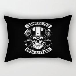 CRIPPLED OLD BIKER BASTARDS Rectangular Pillow